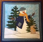 Snowman Rabbit DTC0412608 Quilt Blanket