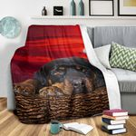 Rotteilwer In Sunset DTC0412711 Fleece Blanket