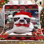 Boston Terrier Christmas DTC0412752 Fleece Blanket