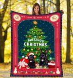 Scottish Terrier Under Christmas Tree DTC0412709 Fleece Blanket