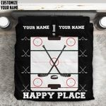 3D This Is My Happy Place Hockey Personalized DAC0412118 Bedding Set