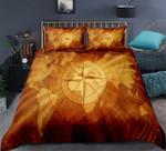 Gold World Map Compass DAC041295 Bedding Set