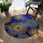 Stylized Suns Blue DAC041238 Round Carpet
