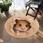 3D Hamster DAC041271 Round Carpet