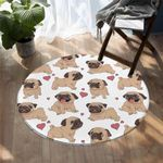 Lovely Pug DAC041247 Round Carpet