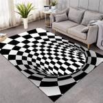Black White Swirl Optical Illusion DAC041225 Rug