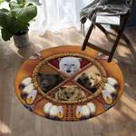Tribal Ursas DAC041234 Round Carpet