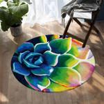 3D Flower DAC041272 Round Carpet