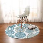 Turquoise Mosaic Mandala DAC041233 Round Carpet