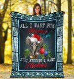 Christmas Elephant MMC0512101 Fleece Blanket