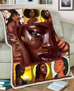 Black Girl MMC051286 Fleece Blanket