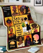 Black Girl MMC051276 Fleece Blanket