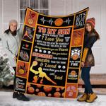Basketball To My Son MMC051257 Fleece Blanket