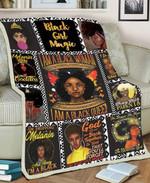 Black Girl MMC051271 Fleece Blanket