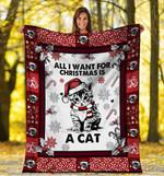 Christmas Cat MMC051298 Fleece Blanket