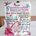 To My Granddaughter MMC0512132 Fleece Blanket
