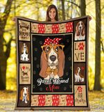 Basset Hound MMC051259 Fleece Blanket