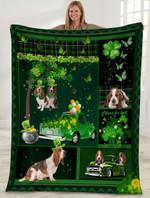 Basset Hound Irish MMC051258 Fleece Blanket