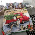 Shepherd Red Truck Christmas MMC0512293 Bedding Set