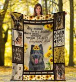 German Shepherd MMC0512115 Fleece Blanket