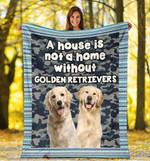 Golden Retriever MMC0512117 Fleece Blanket