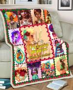 Black Girl MMC051288 Fleece Blanket