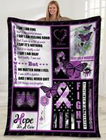 Purple Ribbon Butterfly MMC0512125 Fleece Blanket