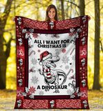 Christmas Dinosaur MMC051299 Fleece Blanket