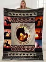Horse MMC0512121 Fleece Blanket