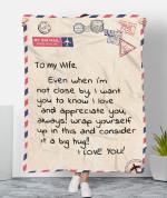 To My Wife MMC0512143 Fleece Blanket