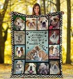 English Bulldog MMC0512113 Fleece Blanket