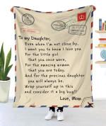 To My Daughter MMC0512129 Fleece Blanket