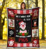 Christmas Pig MMC0512103 Fleece Blanket