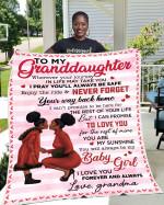 To My Granddaughter MMC0512133 Fleece Blanket