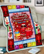 Christmas African Woman MMC051297 Fleece Blanket