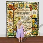 To My Granddaughter MMC0512134 Fleece Blanket