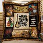 Where Words Fail Music Speaks PTC051214 Quilt Blanket