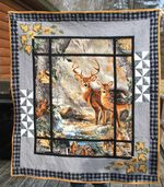 Deer Out The Window PTC051206 Quilt Blanket