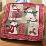 Country Snowman PTC051204 Quilt Blanket