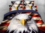 American National Flag with Eagle DAC051219 Bedding Set