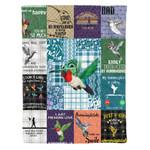 VARIOUS HUMMINGBIRD DTC0712401 Fleece Blanket