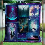 Galaxy Silhouette Deer DTC0712316 Quilt Blanket