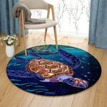 Color Sea Turtle PTC0181234 Round Carpet