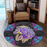 Mandala Horse PTC0181237 Round Carpet