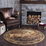 Woodland Deer PTC0181242 Round Carpet