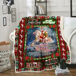 Santa Claus Ride A Horse DPC091211 Fleece Blanket
