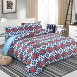 Red Floral DAC091215 Bedding Set