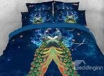 Peacock and Blooming Flower DAC091217 Bedding Set
