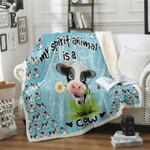 Cow Is My Spirit Animal DTC1012406 Sherpa Fleece Blanket