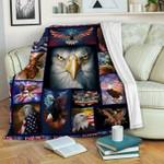 Bald Eagle DTC1012408 Sherpa Fleece Blanket